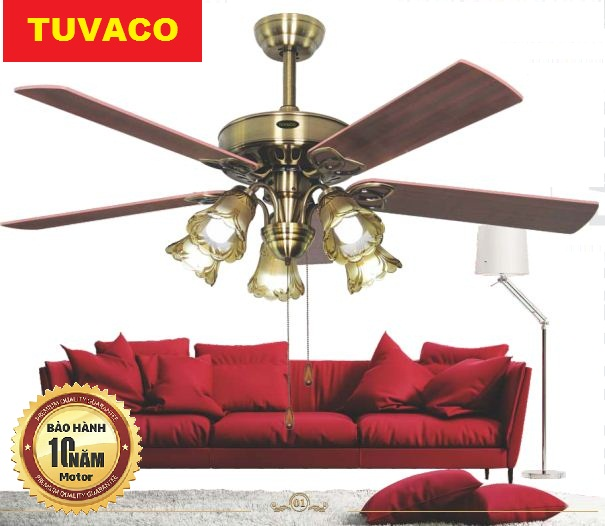 Quạt trần cánh gỗ TUVACO