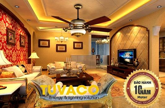 Cách chọn quạt trần cho phòng khách, phòng ăn, phòng ngủ, phòng bếp