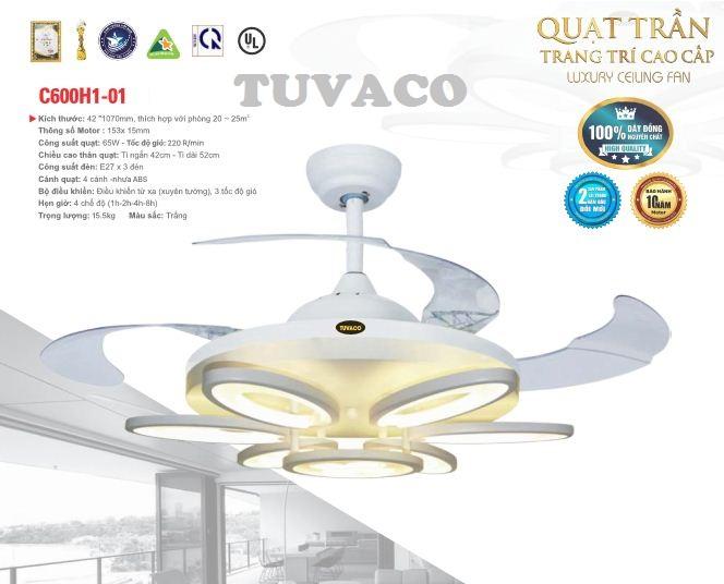 Quạt trần đèn trang trí TUVACO