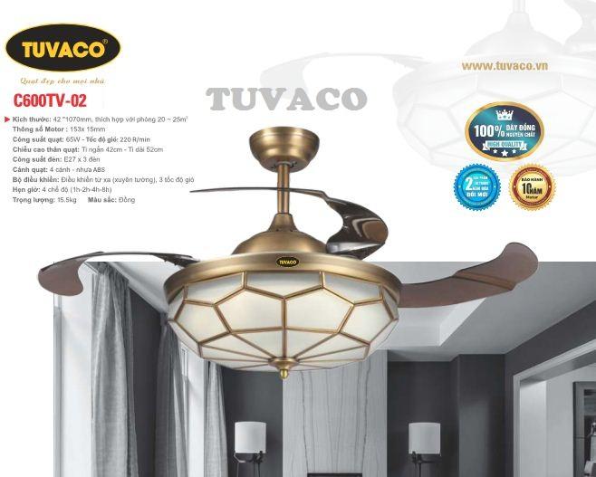 Quạt trần đèn TUVACO