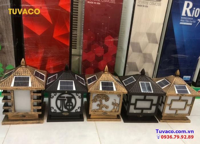 Sản phẩm đèn năng lượng mặt trời trụ cổng của Tuvaco