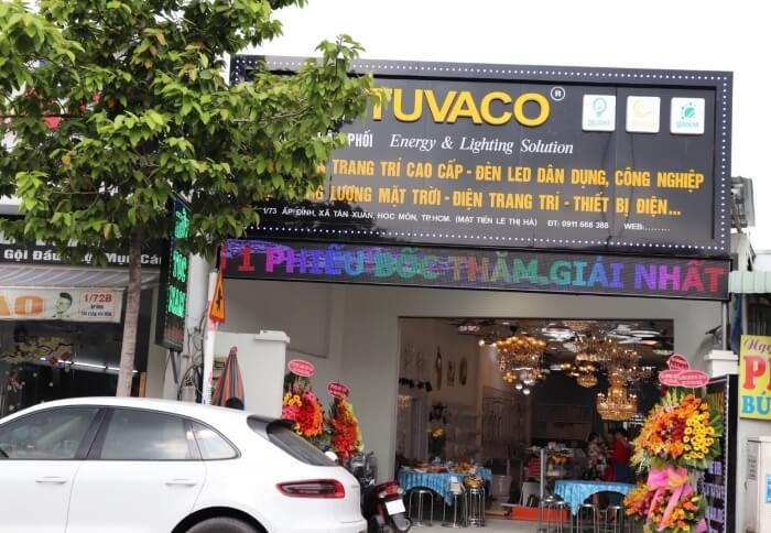 Cửa hàng đèn chiếu sáng Tuvaco